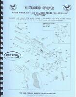 High Standard Sentinel .22 Caliber Model R-100 R-101 Revolver Pistol Gun Manual