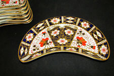 ROYAL CROWN DERBY TRADITIONAL IMARI 2451 CRESCENT SALAD PLATES SOLD INDIVIDUALLY