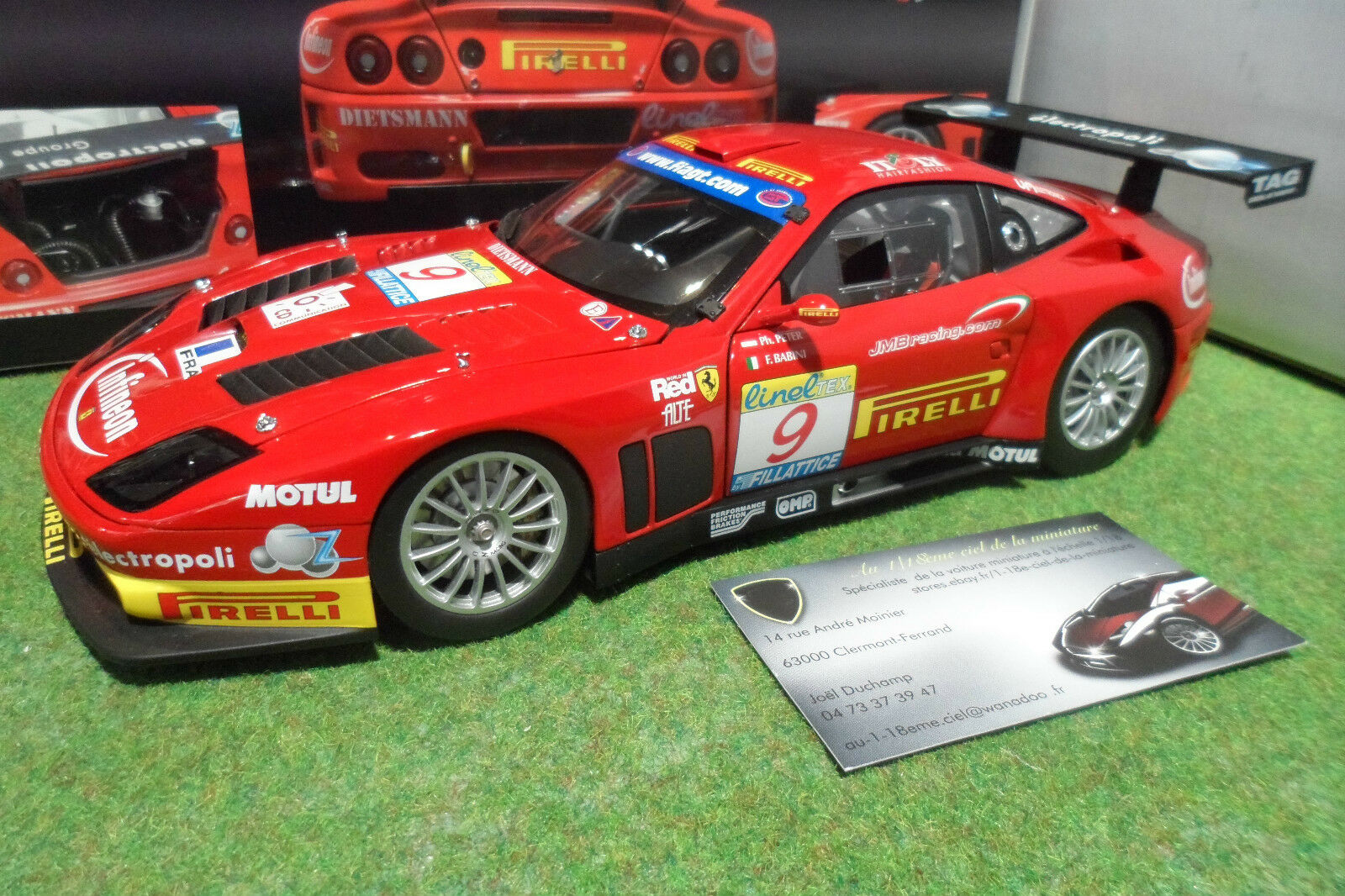 FERRARI 575 GTC ESTORIL 2003  9 TEAM J.M.B 1 18 KYOSHO 08393B voiture miniature