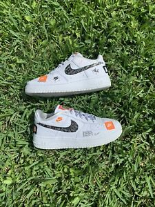 Details about Nike Air Force 1 Just do it white Size 6Y AO3977-100