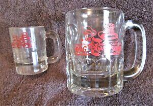 2 Vintage Dog N Suds Root Beer Mugs Medium And Small