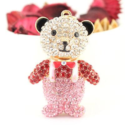 Multi-Color Teddy Bear Fashion Keychain Animal Cute Charm Gift Decoration 01332C