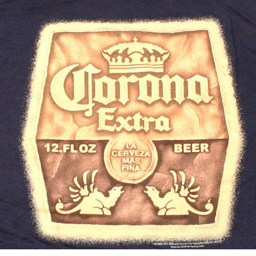 NEW Corona Extra Shirt Navy Blue XL Beer Drink Bar Summer Beers Party Got Lime