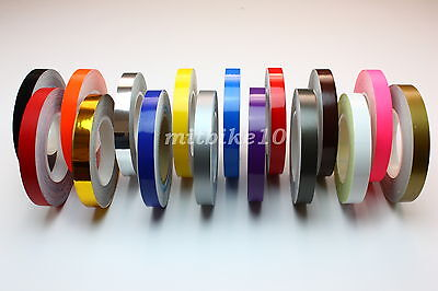 """1/4"""" Pin striping stripe Vinyl tape decals stickers 6mm for cars & motorcycles"""