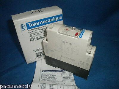 Telemecanique RM CV60BD Isolated Analog Converter,IO:0-500V//4,20mA,0-10V~92518