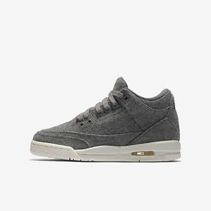 9ebe9ba08a2ac1 Nike Big Kid s Jordan 3 Retro Wool (GS) NEW AUTHENTIC Dark Grey Sail ...