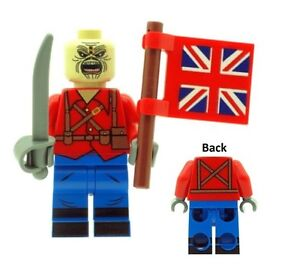 Custom-Designed-Minifigure-Eddie-The-Mascot-with-Flag-Printed-On-LEGO-Parts