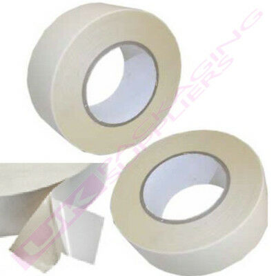 LARGE 50mm x 50 Metre ROLLS OF DOUBLE SIDED PAPER TAPE CRAFT *MULTI QTY LISTING*