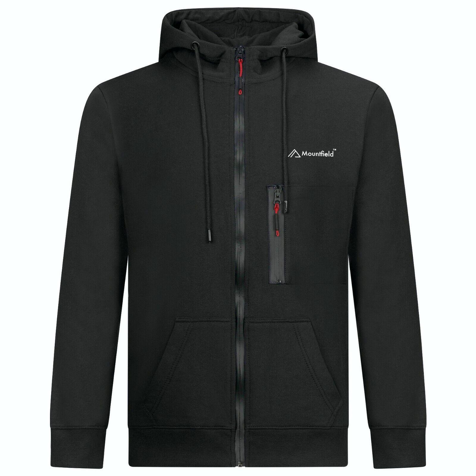 Mountfield Mens Zip-Up Hoodie Jacket Sweatshirt Hooded 1 High Zip Pocket Style 8