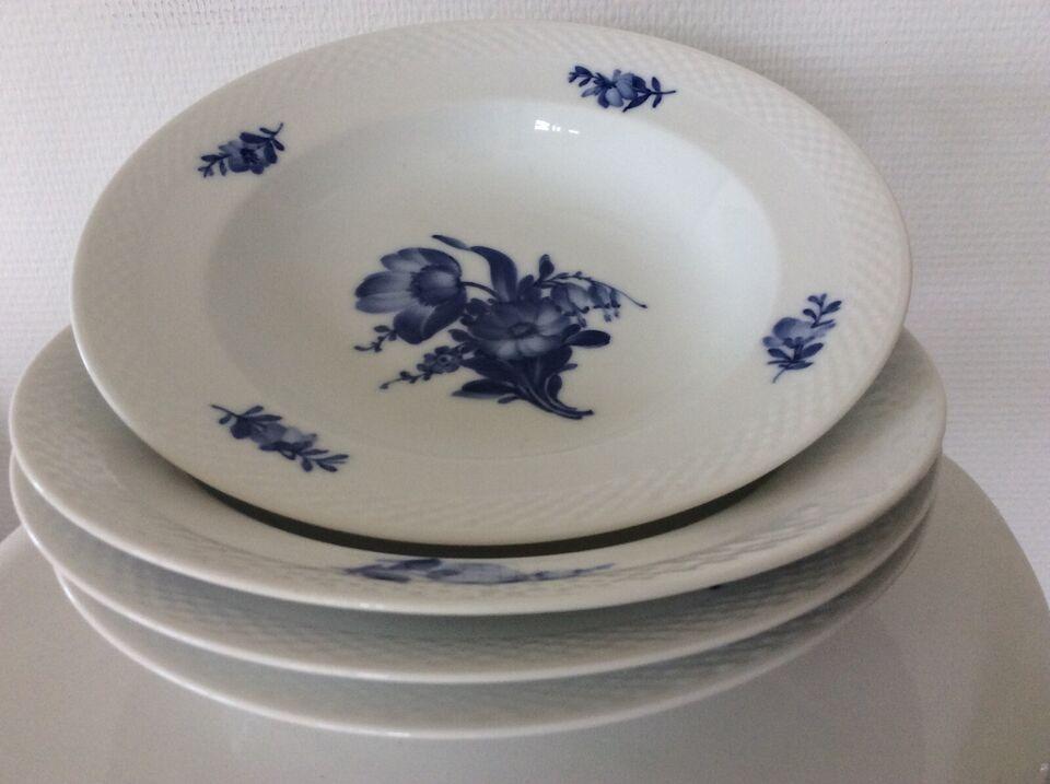 Porcelæn, Blå Blomst, flettet pasta- tallerkener