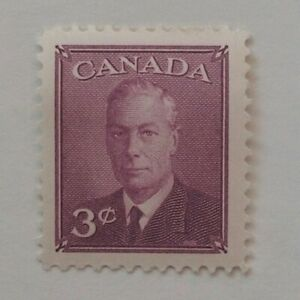 KING GEORGES VI 3 CENTS 1950 WITHOUT POSTAGE CANADIAN STAMP