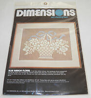 Dimensions Net Darning Lace Kit Blue Ribbon Floral 4800