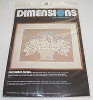 Dimensions Net Darning Lace Kit Blue Ribbon Floral 4800