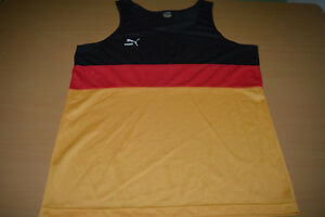 Vtg-PUMA-made-in-West-GERMANY-Team-Flag-shirt-jersey-Top-Tank-Soccer-Ibiza-Gay-L