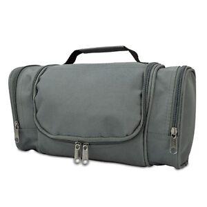 1b000e7e535c Details about DALIX Travel Organizer Toiletry Cosmetics Medicine Makeup  Shaving Kit Bag Gray