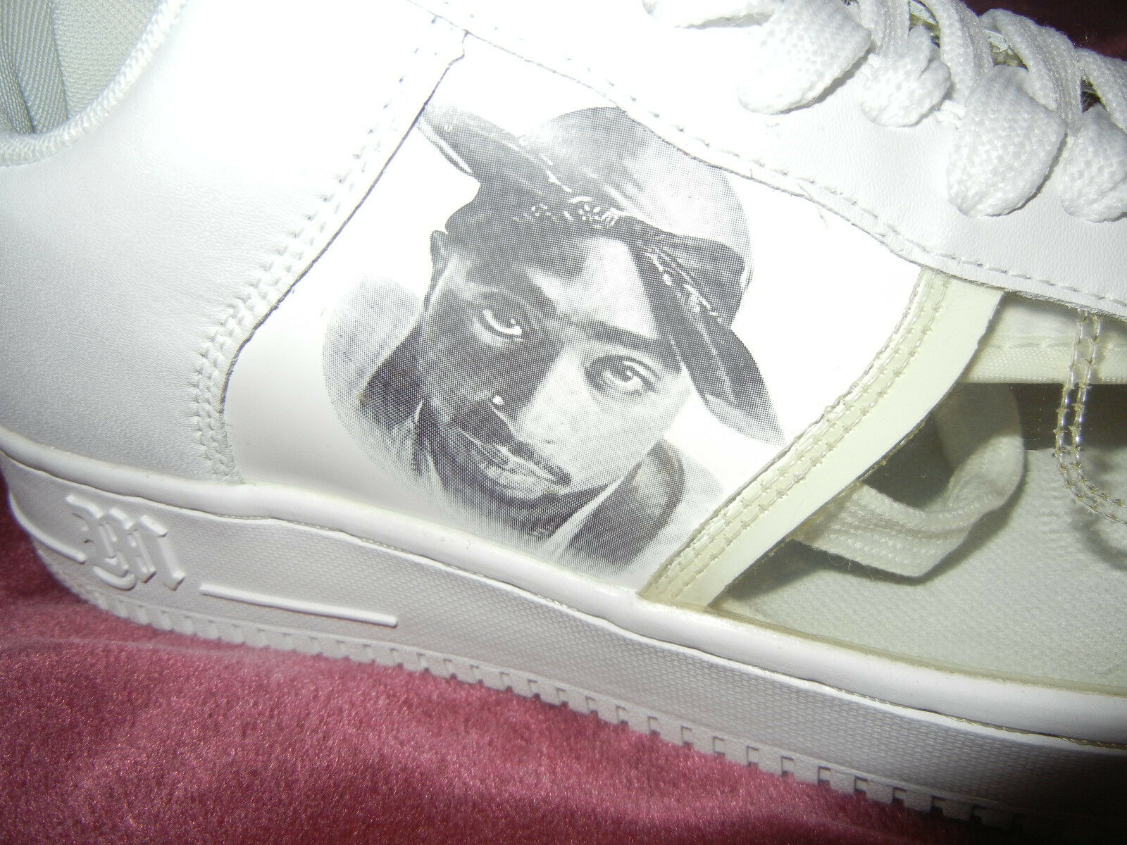 2PAC  Makaveli White  REDEMPTION size 10 sneakers  Tupac SHOES  2PACALYPSENOW