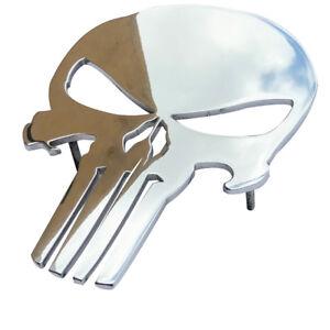 8-inches-Car-Grille-Badge-Emblem-Billet-Punisher-Logo-Aluminum-Polish-Truck