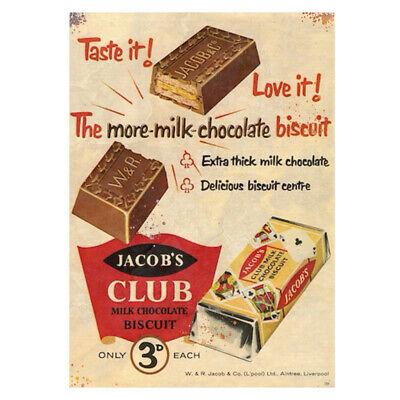 Jacobs Club Metal Advert Vintage Sign Garage Workshop Kitchen Chocolate Plaque Ebay