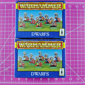Warhammer-Fantasy-Dwarfs-2-Boxes-Plastic-OOP-Games-Workshop-Citadel-Dwarf