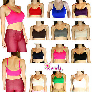 003b726542 Image is loading Basic-Bralette-Active-Sports-BRA-TOP-Layering-Crop-