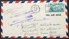 Unsufficiently Adressed US Airmail Cover Salt Lake City USA Lupo Brief (H-11022