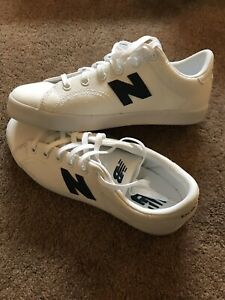 12b9b33d3929b New Balance Pro Court KLCRTWNY White Navy Blue Canvas Sport Sneakers ...