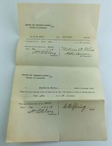 State of Pennsylvania Lycoming County Jury Commissioners Signatures May 1918