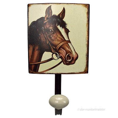 Nostalgie Haken Garderobenhaken Pferd Wandhaken Kleiderhaken Metall Kinderzimmer