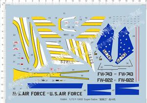 1-72-F-100D-Super-Sabre-Fighter-Model-Kit-Water-Decal