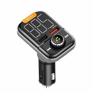 Handsfree-Bluetooth-5-0-FM-Transmitter-Wireless-AUX-Radio-Adapter-QC3-0-USB-Port