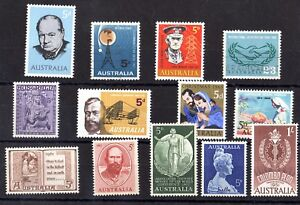 Australia-QEII-1960s-Collection-of-13-Mint-Values-X8058