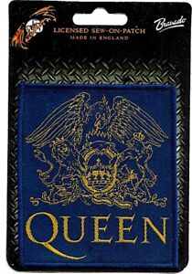 Official-Licensed-Merch-Woven-Sew-on-PATCH-Rock-Freddie-Mercury-QUEEN-Crest