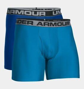 Men-039-s-Under-Armour-6-034-Original-Boxerjock-2-pack-Blue-Size-2XL-1282508