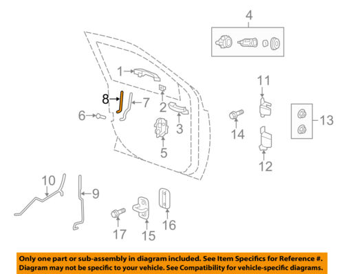 Jeep CHRYSLER OEM 07-17 Patriot Front Door-Latch Rods Left 5160077AB