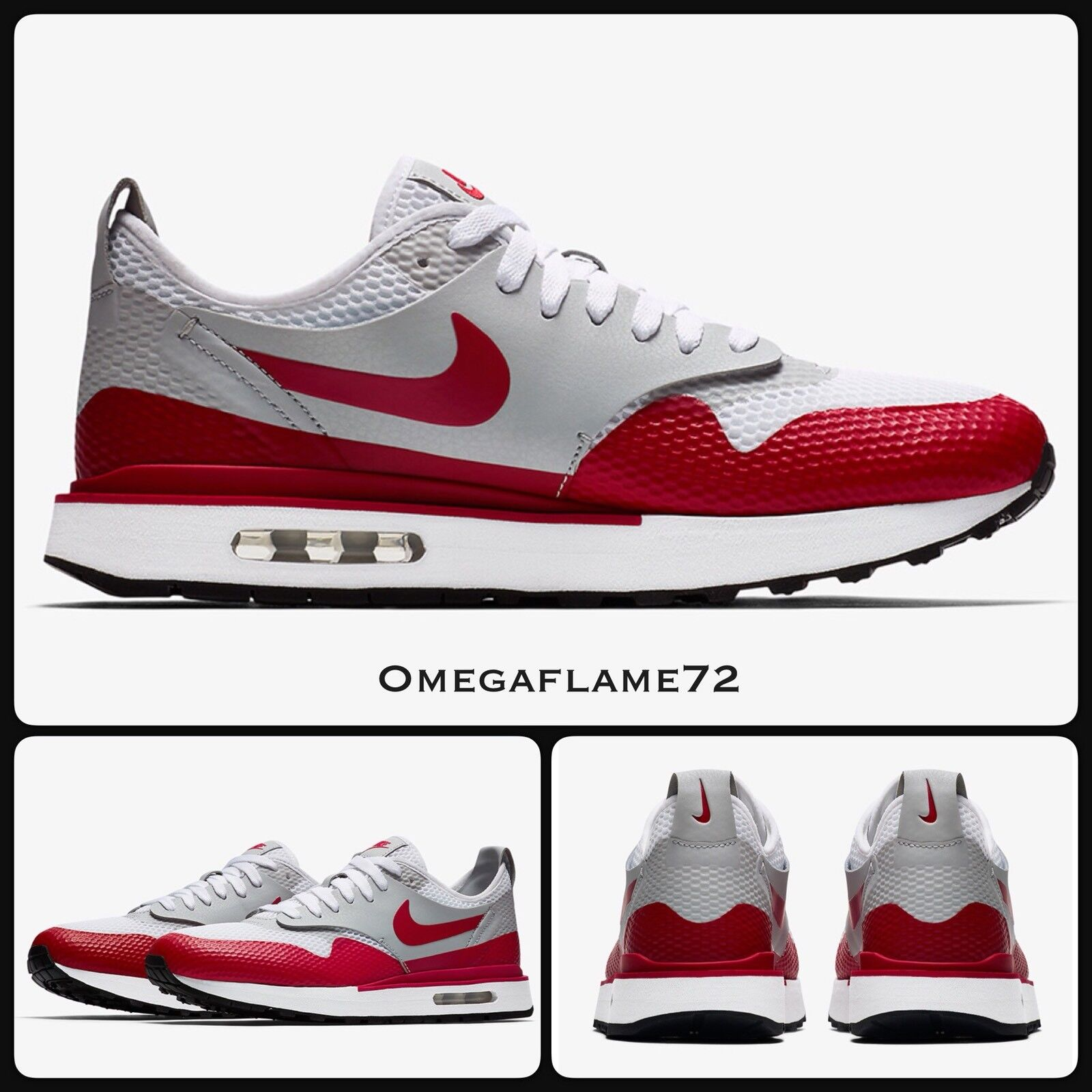 Nike Air Max 1 Royal SE SP, AA0869-10010, EUR 45, US 11 Nikelab rouge, blanc