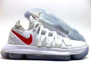 finest selection 688bd af5db NIKE ZOOM KD10 KD 10 X ID WHITE/SPORT RED-WHITE SIZE WOMEN'S ...