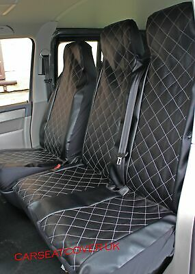 DOUBLE 2+1 DELUXE GREY//BLACK VAN SEAT COVERS SINGLE MERCEDES VITO 2014 ON