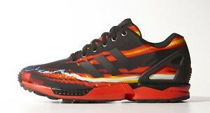 6cd8ddc69c5f Image is loading Adidas-ZX-Flux-B34140-Black-Red-Men-SZ-