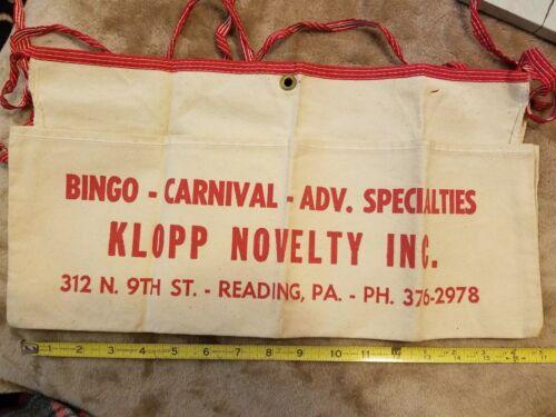 Klopp Novelty Cloth Apron New Old Stock