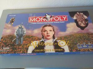 Il MAGO DI OZ Monopoly Gioco Da Tavolo Edizione per Collezionisti completo nella scatola originale