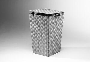 Waeschekorb-Waeschebehaelter-aus-Nylon-konisch-Farbe-grau