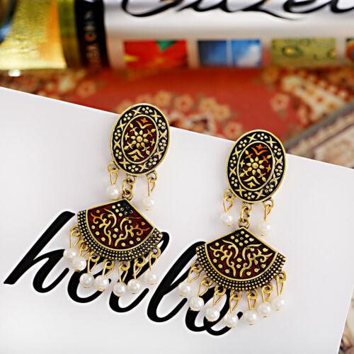 Fashion Vintage Ethnic Indian Jhumki Women Stud Earring Gypsy Retro Jewelry Gift