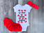 Details about  /G-ma Gma Was Here Kisses Bodysuit Romper Outfit Shirt Set
