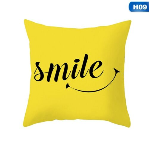 "Mustard//Ochre Yellow /& Grey Geometric Cushion Cover 18/"" Red Rainbow Home Decor"