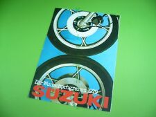 406KA2 Prospekt, Brochure: SUZUKI Motorrad Programm 1979, 70er Jahre