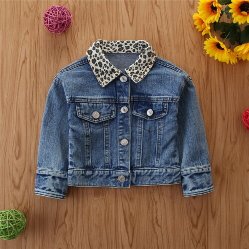 Kid Girl Toddler Casual Denim Jean Fall Jacket Button Coat Outwear Top Outwear