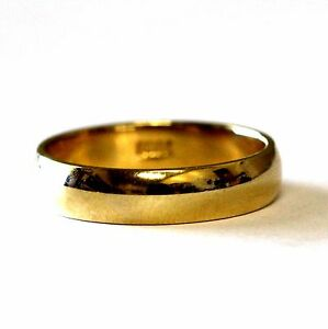 New-10k-yellow-gold-mens-wedding-band-4-7g-ring-5mm-vintage-estate-fashion-gents