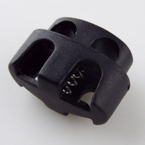 7 STYLE Black Plastic Push Spring Toggle Cord End Lock Stop Coat Bag Buy 2 4 8