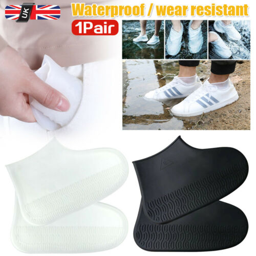 1 Pairs Silicone Overshoes Rain Waterproof Shoe Covers Boot Protector Recyclable