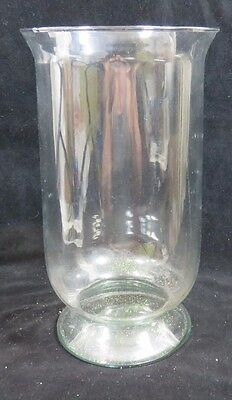 "Clear Glass Pillar Vase Footed  13-5/8 "" Tall -7-3/4"" Dia. Holidays Weddings"